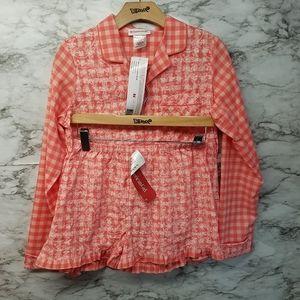 American Girl Tenney Pajamas Pjs Set Girls New